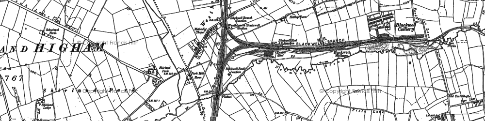 Old map of Westhouses in 1879