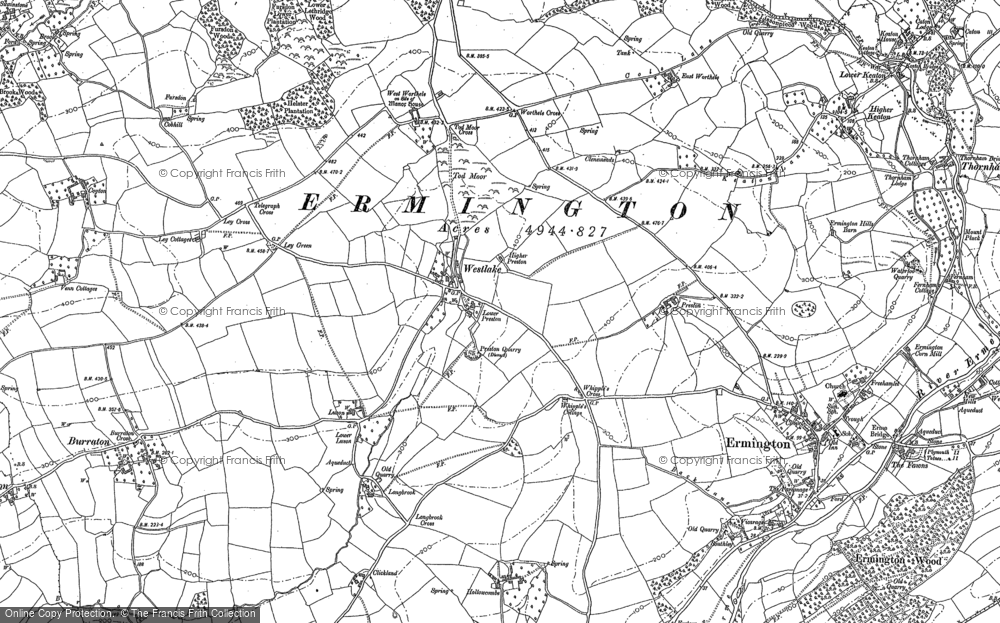 Old Map of Historic Map covering Tod Moor in 1895