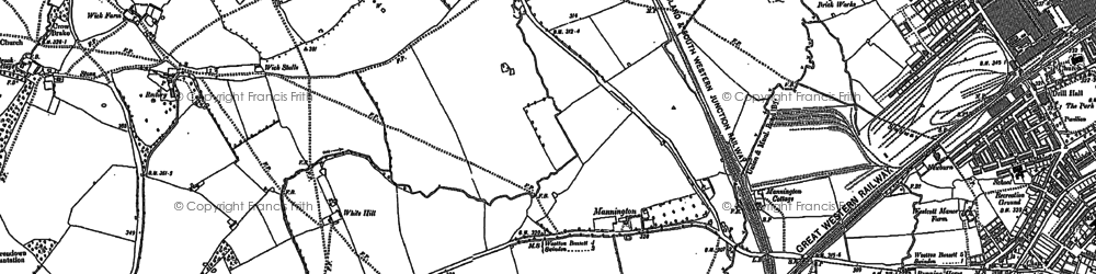 Old map of Westlea in 1899