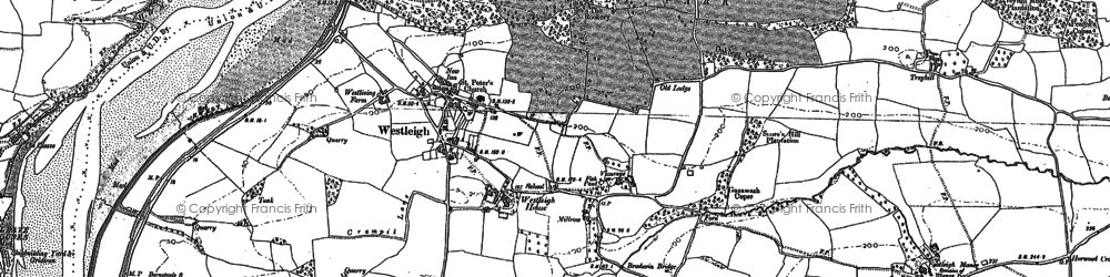Old map of Ball Hill in 1886