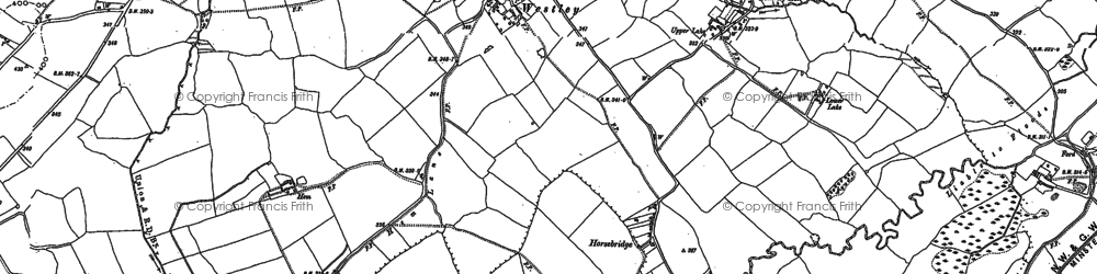 Old map of Westley in 1881