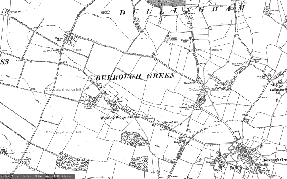 Old Map of Historic Map covering Lingay Hill in 1885