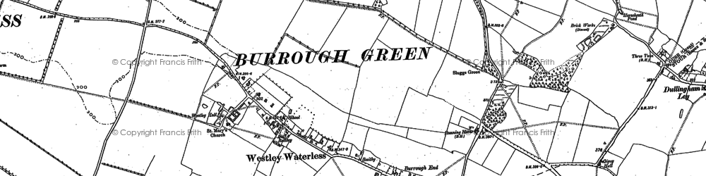 Old map of Westley Waterless in 1885
