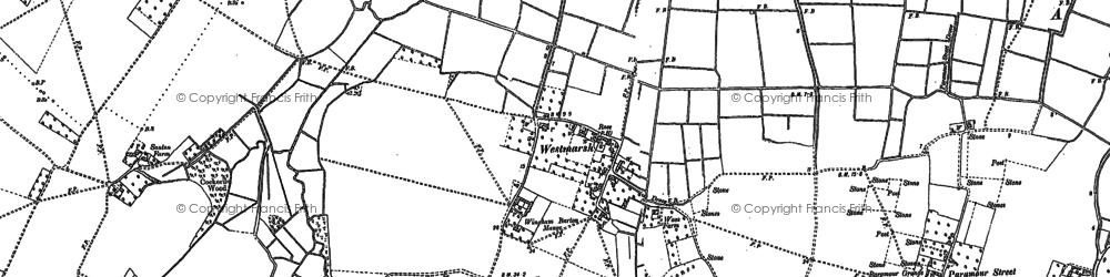 Old map of Westmarsh in 1896
