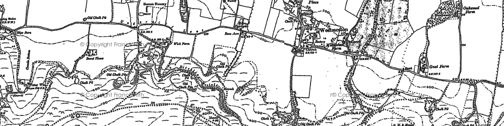 Old map of Westmeston in 1897