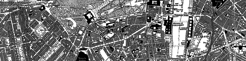 Old map of Westminster in 1894