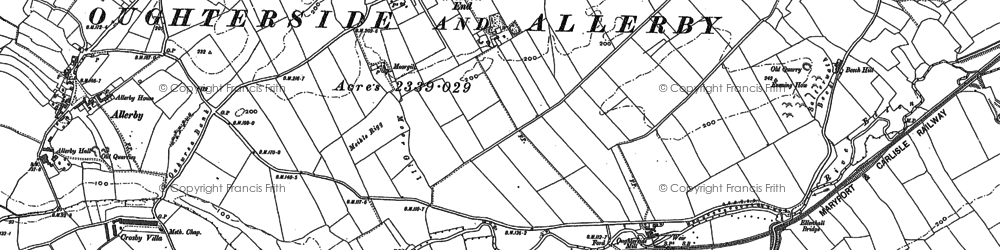 Old map of Westmoor End in 1923