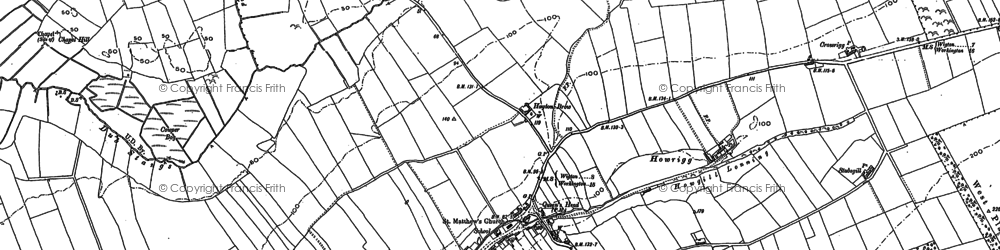Old map of Whitelees in 1899