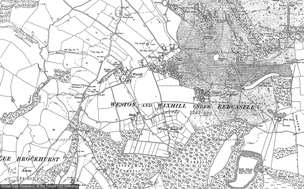 Old Map of Weston, 1880 in 1880