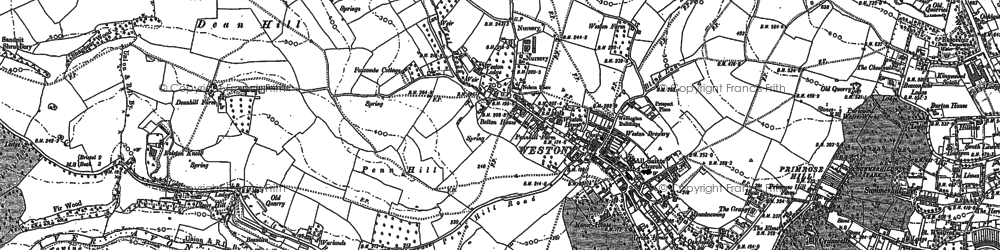 Old map of Weston Park in 1883