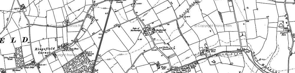 Old map of Weston in 1883