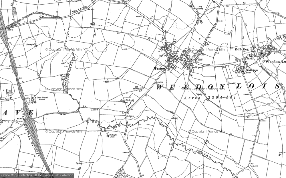 Old Map of Historic Map covering Allithorne Wood in 1883