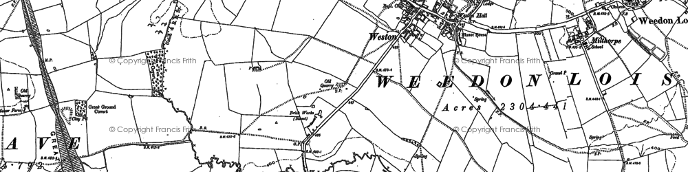 Old map of Allithorne Wood in 1883