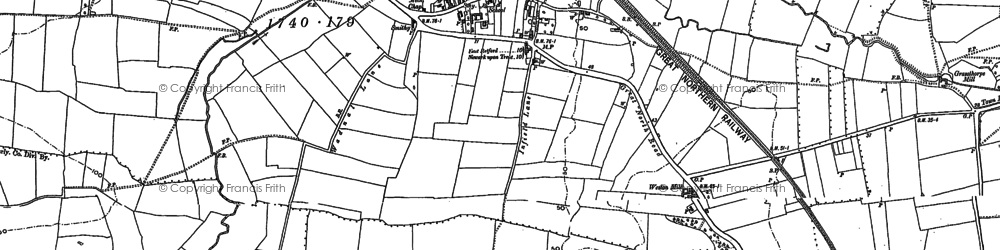 Old map of Weston in 1884