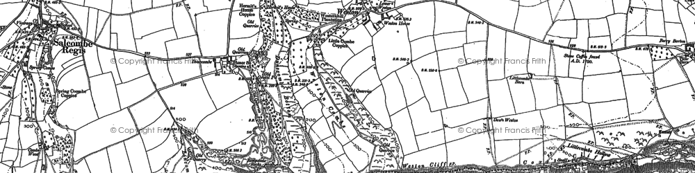 Old map of Weston in 1888