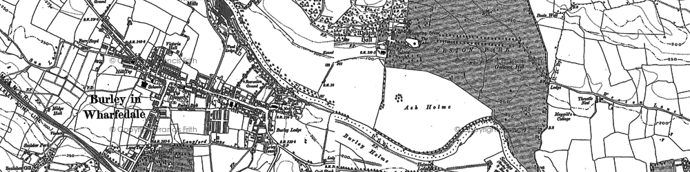 Old map of Weston Park in 1889
