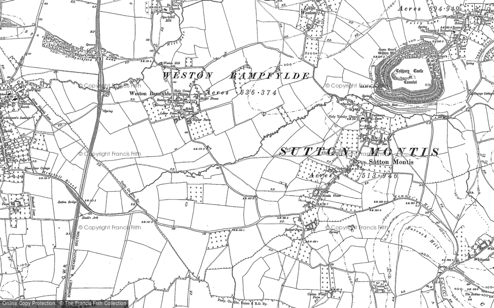 Old Map of Weston Bampfylde, 1885 in 1885