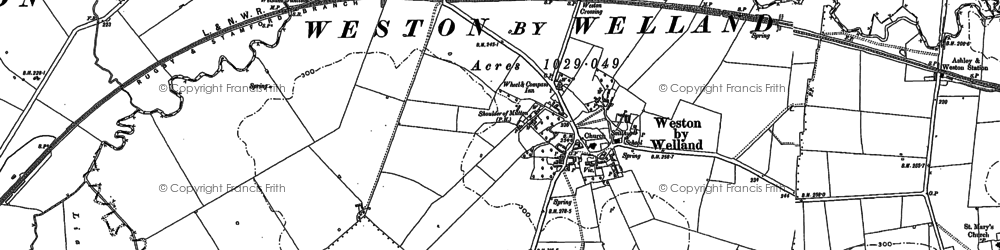 Old map of Weston by Welland in 1899