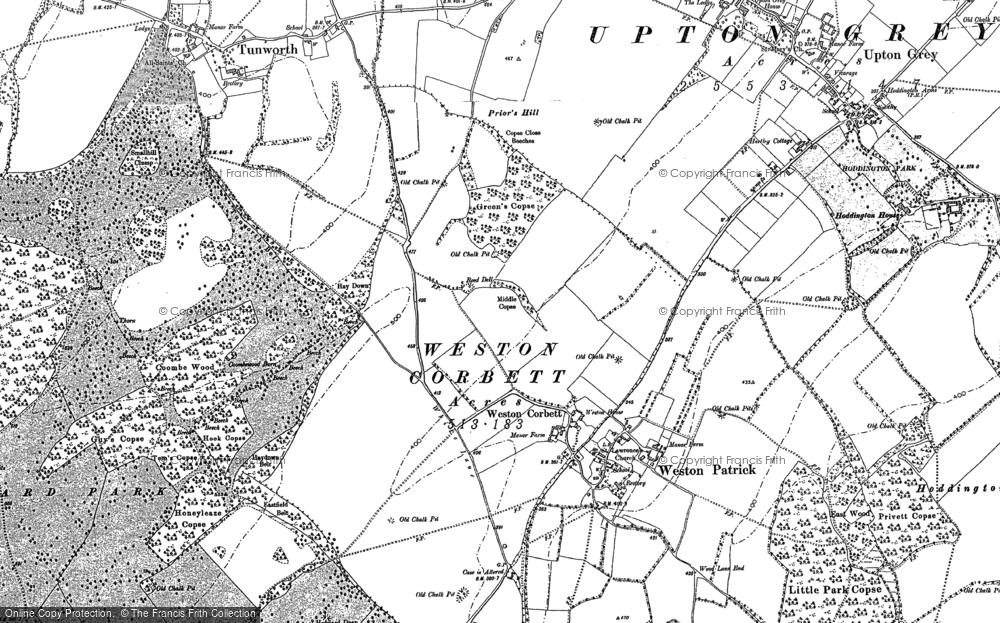Old Map of Weston Corbett, 1894 in 1894