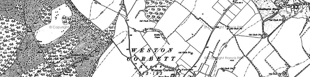 Old map of Weston Corbett in 1894