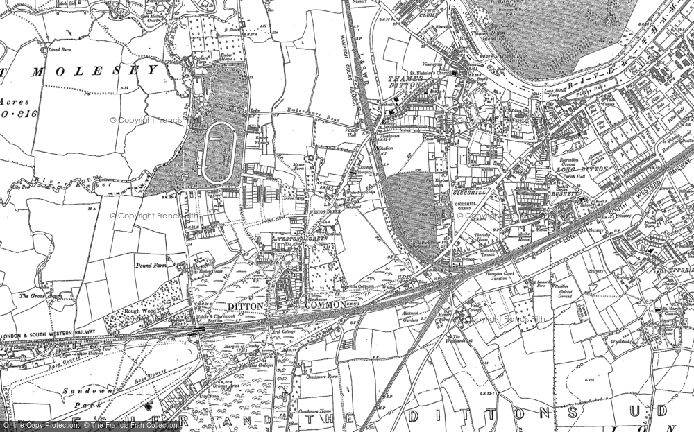 Old Map of Weston Green, 1895 in 1895