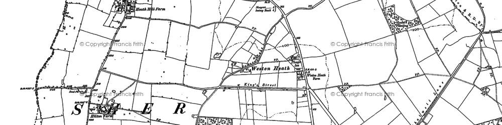 Old map of Weston Heath in 1901