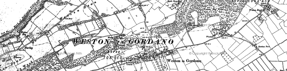 Old map of Weston in Gordano in 1883