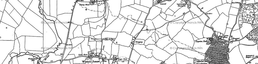 Old map of Weston Jones in 1880