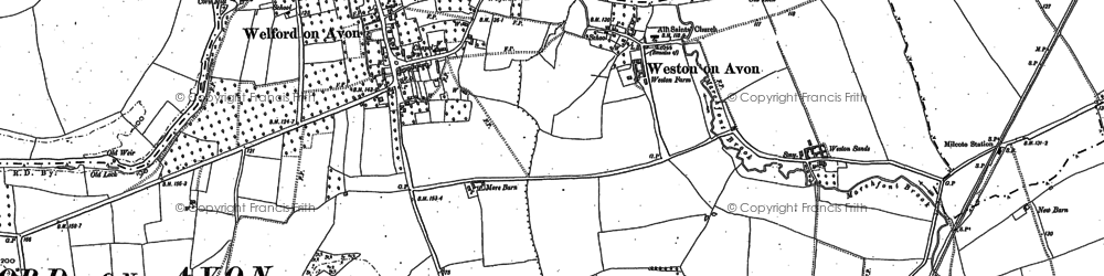 Old map of Weston Sands in 1883