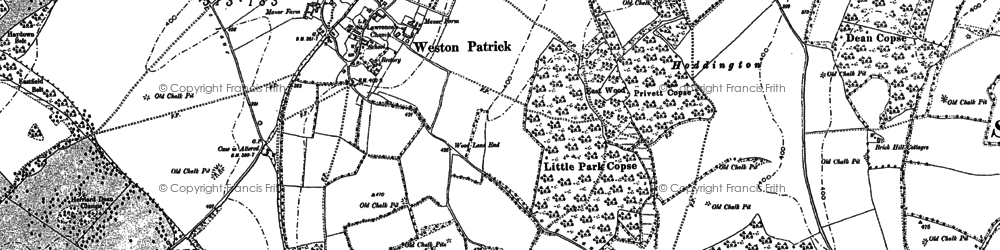 Old map of Weston Patrick in 1894