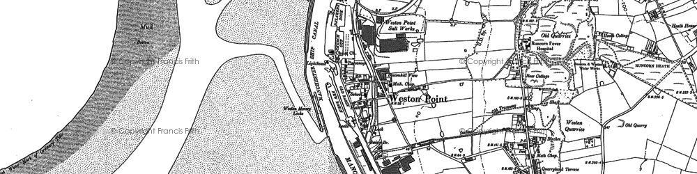 Old map of Weston Point in 1897