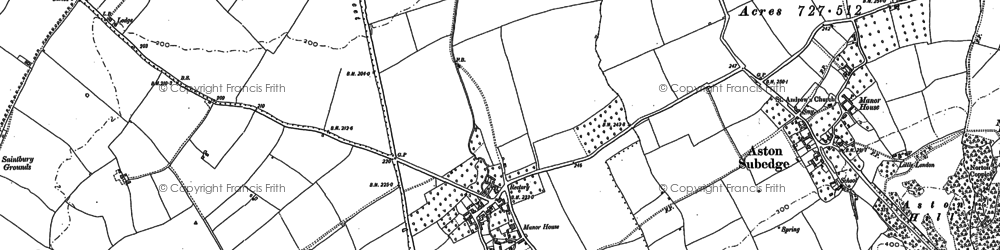 Old map of Weston-sub-Edge in 1880