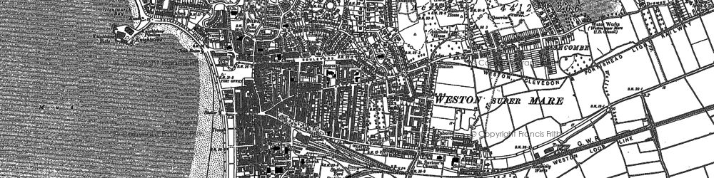 Old map of Weston Woods in 1884