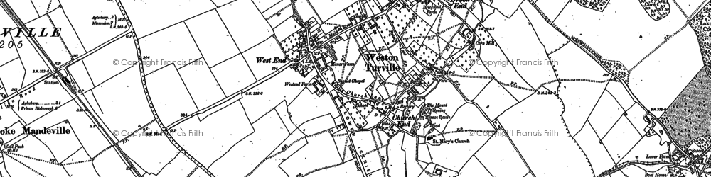 Old map of Bye Green in 1897