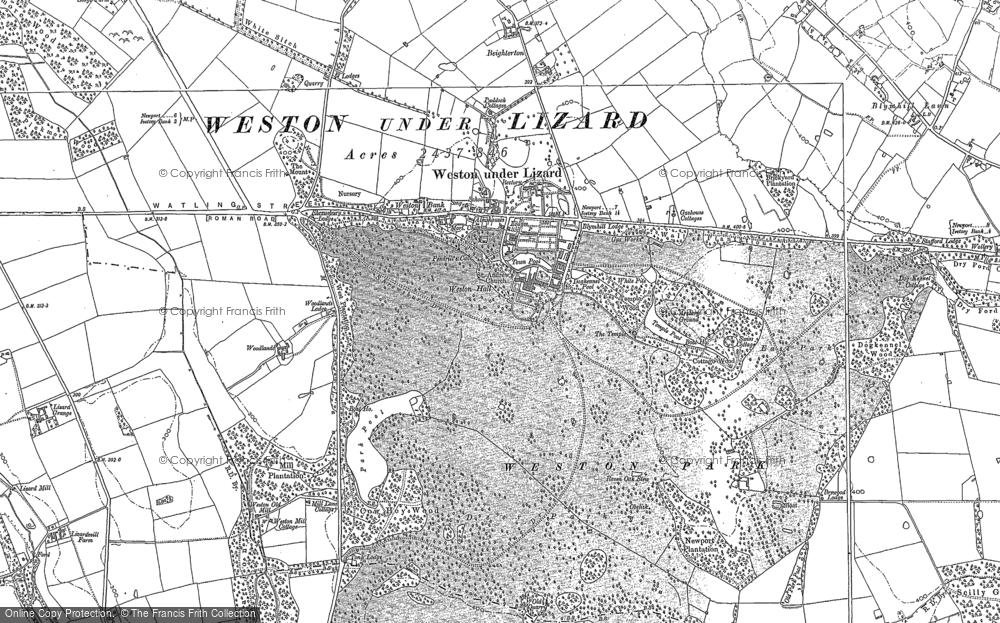 Weston Under Lizard, 1900