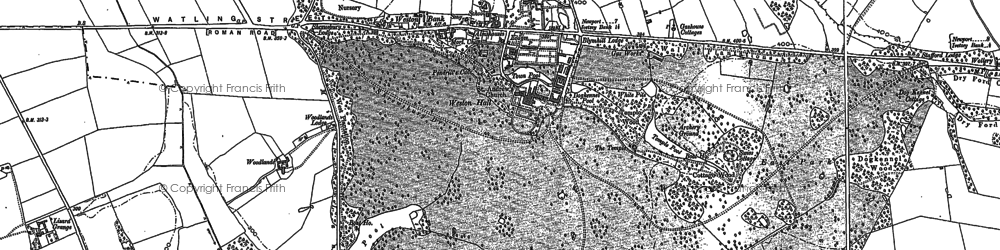 Old map of Weston Under Lizard in 1900