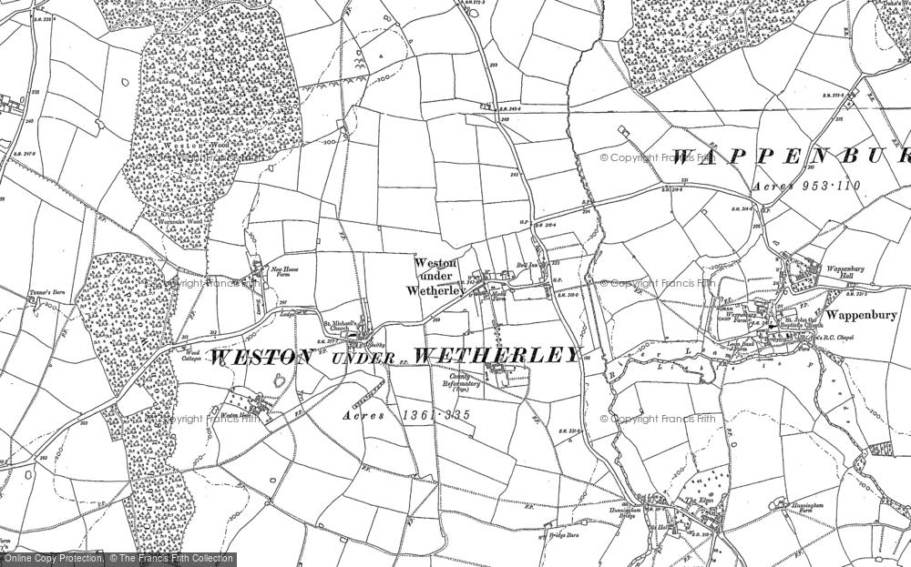 Weston under Wetherley, 1886