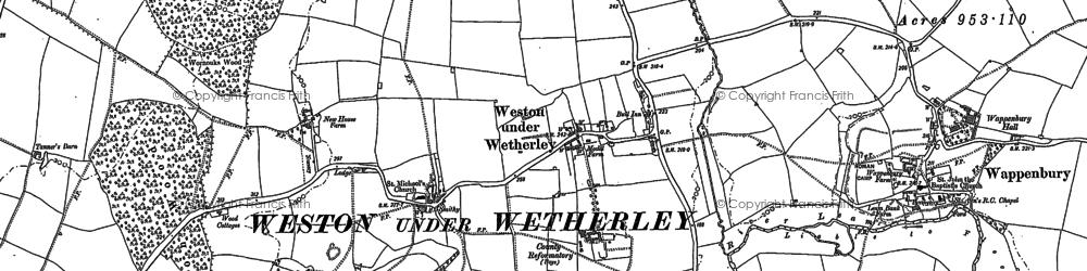 Old map of Weston under Wetherley in 1886