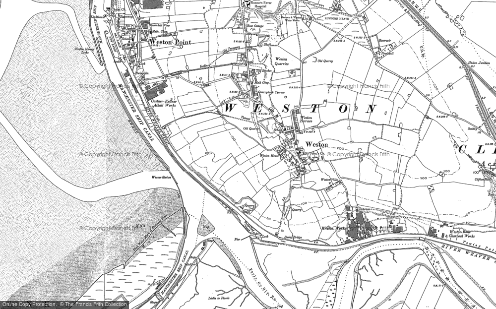 Old Map of Weston Village, 1897 - 1908 in 1897