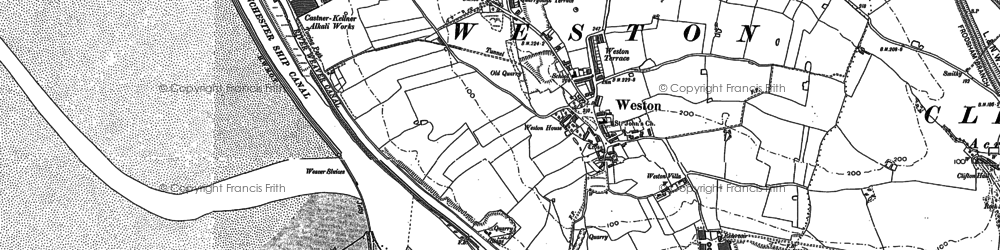 Old map of Weston Village in 1897