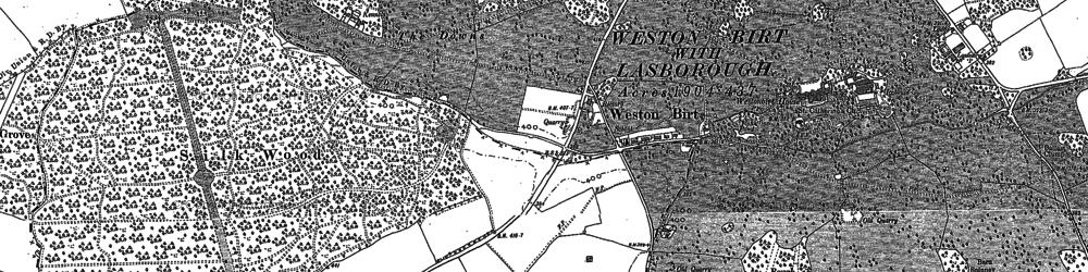 Old map of Westonbirt School in 1899