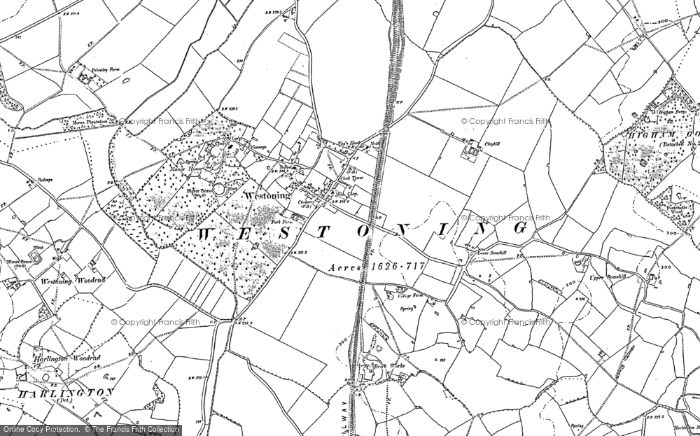 Old Map of Westoning, 1881 - 1882 in 1881