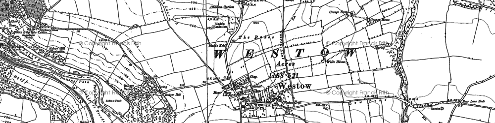 Old map of Westow Low Grange in 1891