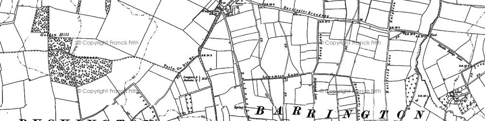 Old map of Westport in 1886