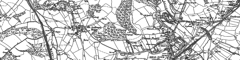 Old map of Westra in 1898
