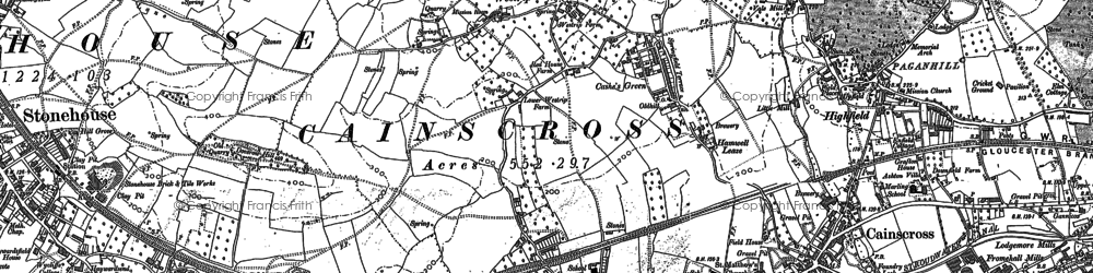 Old map of Westrip in 1882
