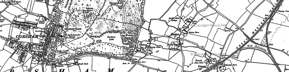 Old map of Westrop in 1899