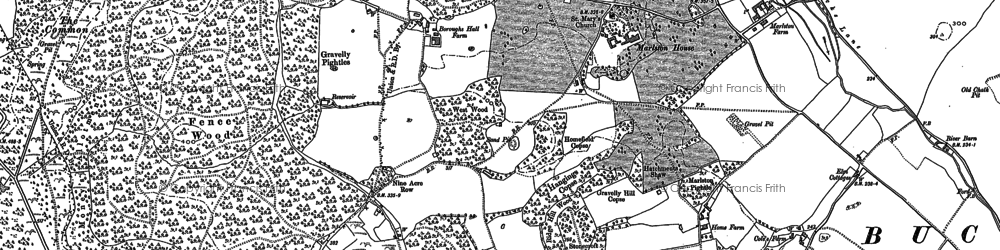 Old map of Westrop Green in 1898
