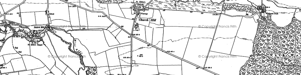 Old map of Wiza Beck in 1899