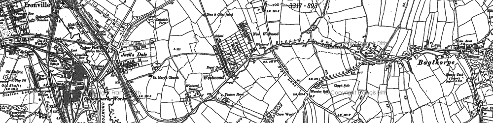 Old map of Westwood in 1880